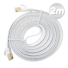 Dark 2M Cat7 Bc Awg30 Ftp Beyaz Slim Patch Network Kablosu - 1