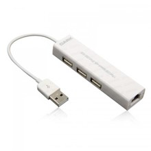 Dark Connect Master U23L Ethernet Girişli 3 Port USB 2.0 Hub - 1