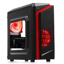 DARK F40 500W 80 Plus 2x Kırmızı LED Fan USB3.0 Pencereli M-ATX Kasa - 1
