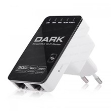 Dark RangeMAX WRT340 300Mbit 802.11n WiFi Kablosuz Router / Repeater / Access Point - Adaptörsüz Tasarım - 1