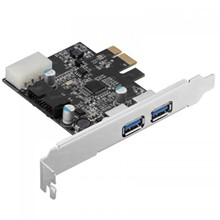 Dark U3P21 2xHarici ve 1x19 Pin USB 3.0 Portlu PCI Exp x1 Kart - 1